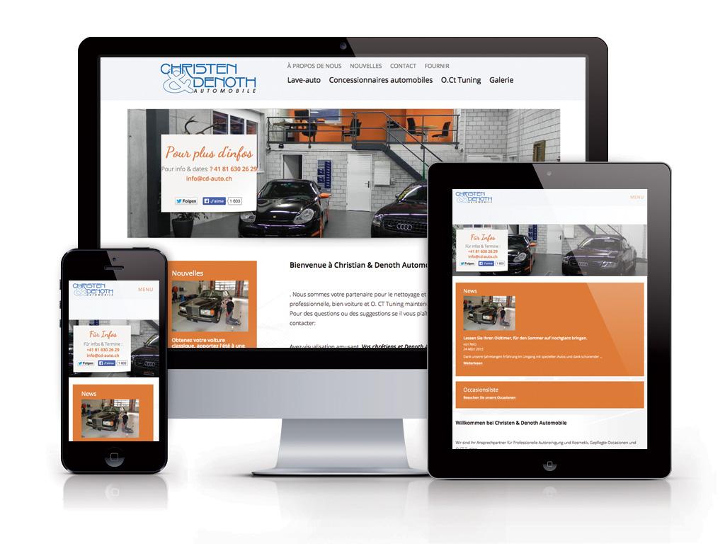Web design nos r f rences nos clients for Site internet pour garage automobile